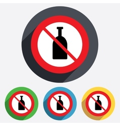 No alcohol sign icon drink symbol bottle vector