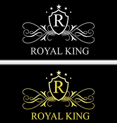 Royal king logo vector
