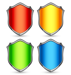 Color shields vector