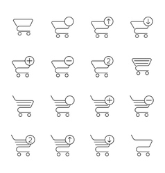 Set of icons shopping cart vector