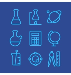 Science icons set vector