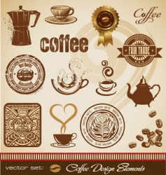 Set coffee design elements vector