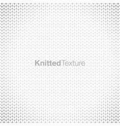 Grey knitted background vector