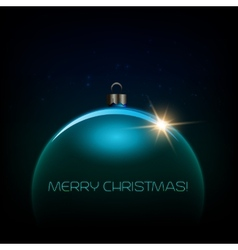 Merry christmas bauble greeting card vector