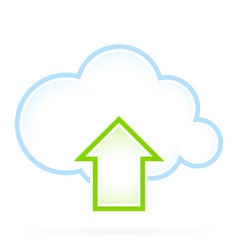 Cloud computing icon upload vector