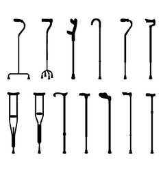 Sticks and crutches vector