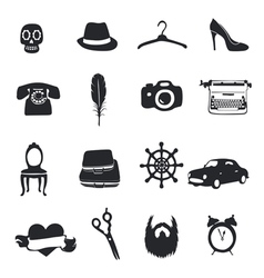 Set flom 12 unique pictograms vector