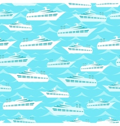 Retro seamless travel pattern of cruise liners vector