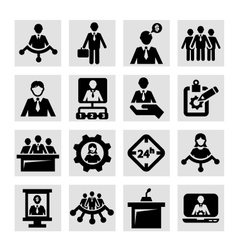Human resources and management icons vector