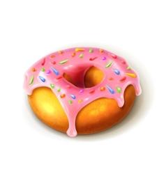 Glazed ring doughnut detailed vector