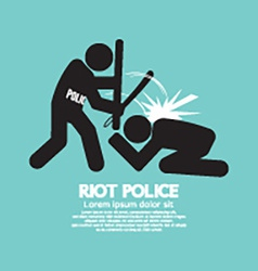 Riot police black symbol graphic vector