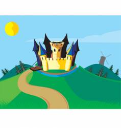 Castle carton vector