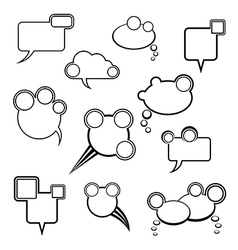 Collection of comic bubbles vector