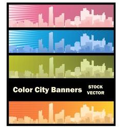 City banner vector