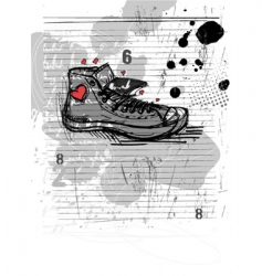 Abstract shoe vector