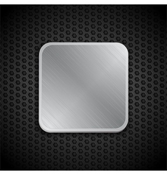 Brushed metal tile background vector
