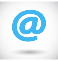 Email single icon vector