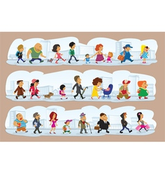 Characters on street vector