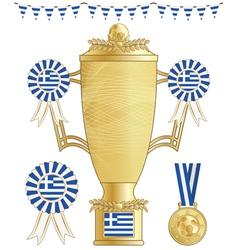 Greece football trophy vector