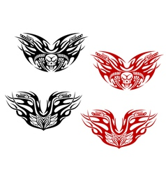 Bikers tattoos with flames vector