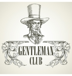Gentlemens club vintage vector