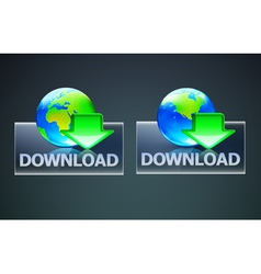 Global computer download concept vector