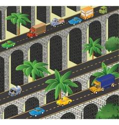 Isometric road vector