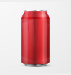Red aluminium can vector
