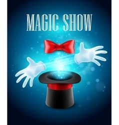 Magic trick performance circus show concept vector