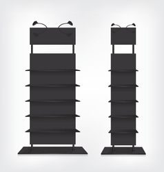 Shop shelves black vector