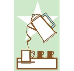 Pouring coffee pot 1 vector
