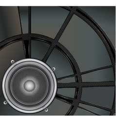 Loud speaker on a metallic background vector