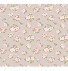 Seamless pattern with little roses vector
