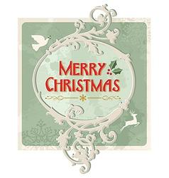 Merry christmas retro sign vector