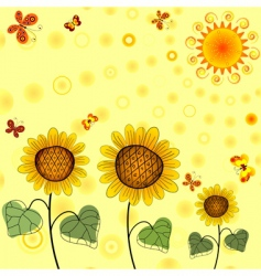 Yellow summer background vector