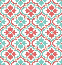 Retro modern floral damask vector