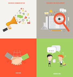 Element of business communication consult partner vector