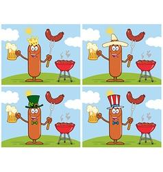 Sausage cartoon vector