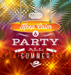 Summer holidays party greeting - type design vector
