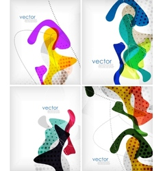 Colorful fluid shapes layout vector