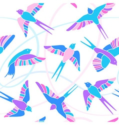 Flight of swallows - mosaic pattern vector