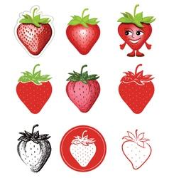 Icon of strawberries vector