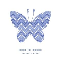Purple drops chevron butterfly silhouette pattern vector