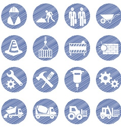 Engineering and building icons vector