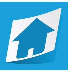 Home sticker vector