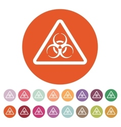 The biohazard icon biohazard symbol flat vector