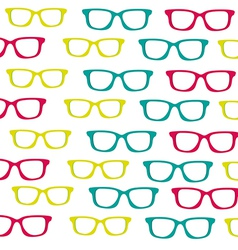 Background of small colored glasses silhouettes is vector