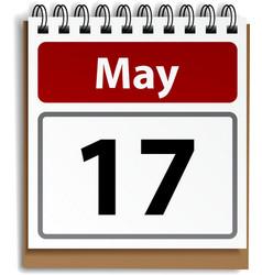 Tear-off day calendar vector