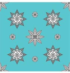 Folk inspired turquoise wallaper vector