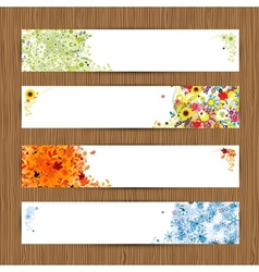 Four seasons - spring summer autumn winter banners vector